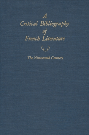 Cover for the book: Critical Bibliography of French Literature, A