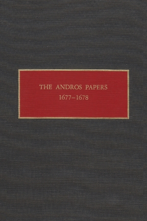 Cover for the book: Andros Papers 1677-1678, The