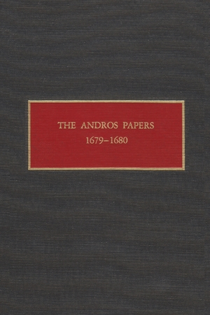 Cover for the book: Andros Papers 1679-1680, The