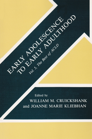 Cover for the book: Early Adolescence to Early Adulthood