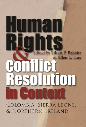 Cover for the book: Human Rights and Conflict Resolution in Context