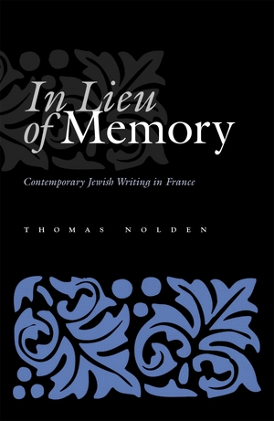 Cover for the book: In Lieu of Memory