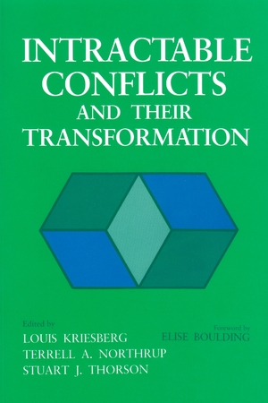 Cover for the book: Intractable Conflicts and Their Transformation