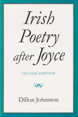 Cover for the book: Irish Poetry after Joyce