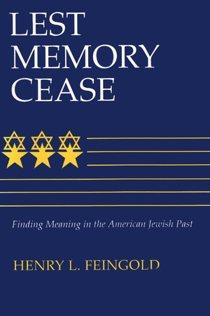 Cover for the book: Lest Memory Cease
