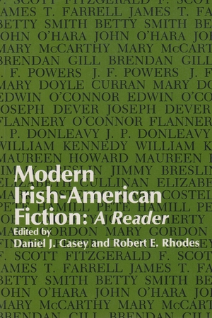 Cover for the book: Modern Irish-American Fiction