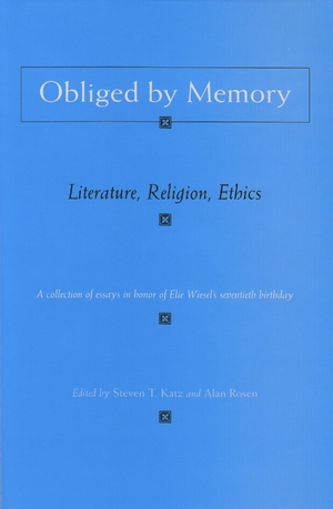 Cover for the book: Obliged by Memory