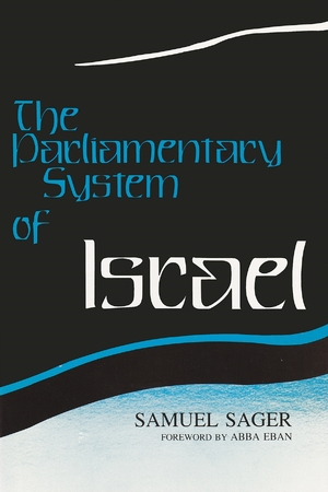 Cover for the book: Parliamentary System of Israel, The
