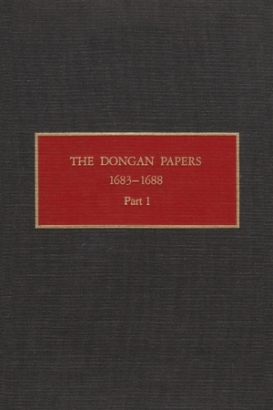 Cover for the book: Dongan Papers, 1683-1688, Part I, The