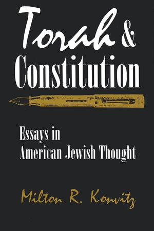 Cover for the book: Torah and Constitution