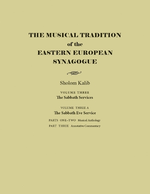 Cover for the book: Musical Tradition of the Eastern European Synagogue, The