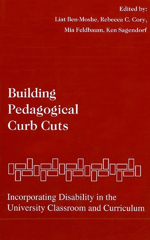 Cover for the book: Building Pedagogical Curb Cuts